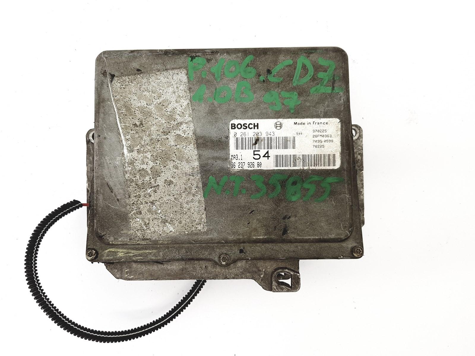 Motor Steuergerät Peugeot 106-1A 1C 0261203943 9623792680 1.0 33kW
